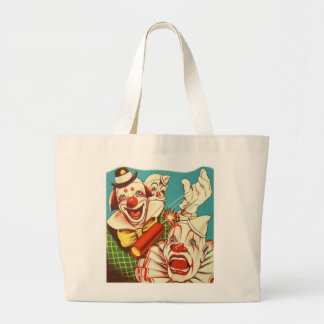 Kitsch Vintage Never Trust a Clown Large Tote Bag