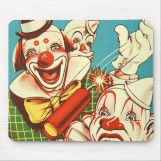 Kitsch Vintage Never Trust a Clown Mousepads