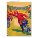Kitsch Vintage Odd Sports 'Motorcycle Polo' Greeting Card