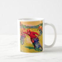 Kitsch Vintage Odd Sports 'Motorcycle Polo' Coffee Mug
