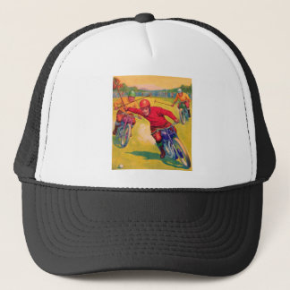 Kitsch Vintage Odd Sports 'Motorcycle Polo' Trucker Hat