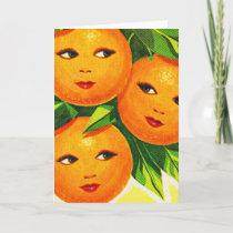 Kitsch Vintage Oranges 'Orange Girls' Card