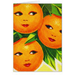Kitsch Vintage Oranges 'Orange Girls' Card