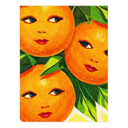 Kitsch Vintage Oranges 'Orange Girls' Postcards
