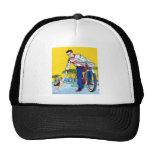 Kitsch Vintage Paper Boy & Dog Trucker Hat
