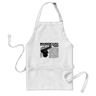Kitsch Vintage Peamatic Pea Shooter Toy Adult Apron