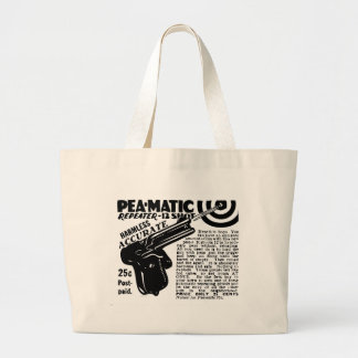 Kitsch Vintage Peamatic Pea Shooter Toy Large Tote Bag