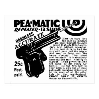Kitsch Vintage Peamatic Pea Shooter Toy Postcard