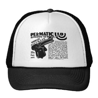 Kitsch Vintage Peamatic Pea Shooter Toy Trucker Hat