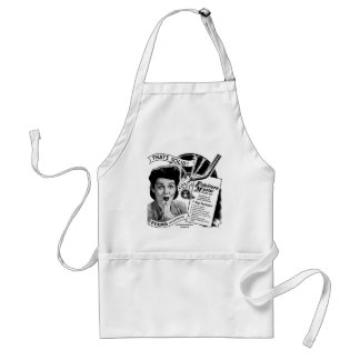 Kitsch Vintage Phonograph Record Needle Adult Apron