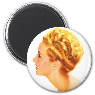 Kitsch Vintage Pin-Up Girl Classic Profile Magnet