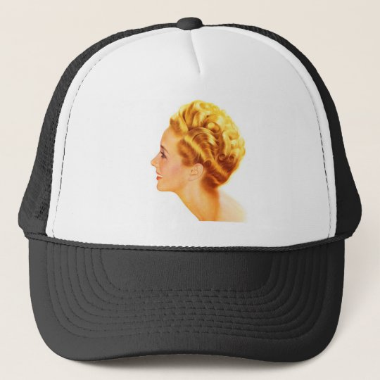Kitsch Vintage Pin-Up Girl Classic Profile Trucker Hat
