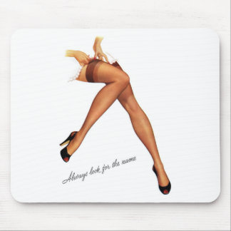 Kitsch Vintage Pin-Up Legs Stockings Mouse Pad