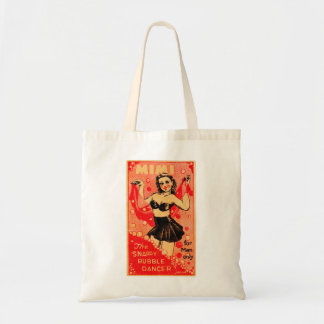Kitsch Vintage Pin Up Mimi Snappy Bubble Dancer Tote Bag