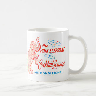 Kitsch Vintage Pink Elephant Cocktail Lounge Coffee Mug
