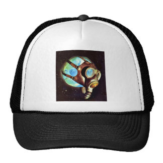 Kitsch Vintage Polluted Earth Gas Mask Trucker Hat