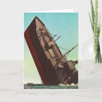 Kitsch Vintage Pulp War 'Sinking Ship'