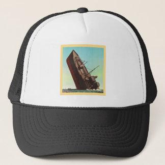 Kitsch Vintage Pulp War 'Sinking Ship' Trucker Hat