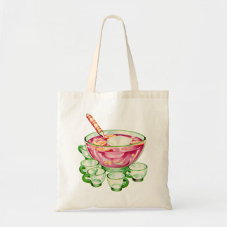 Kitsch Vintage Retro 60s Spiked Punch Bowl & Cups Tote Bag