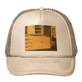 Kitsch Vintage Retro 60s Suburbs Plywood Cabinets Trucker Hat