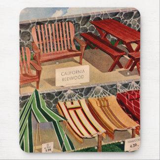 Kitsch Vintage Retro Redwood Suburban Furniture Mouse Pad