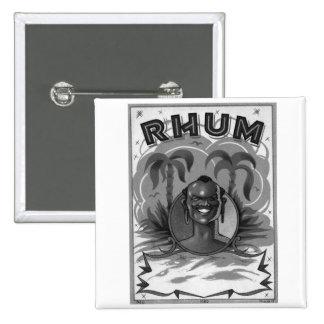 Kitsch Vintage Rhum Rum Man Pinback Button