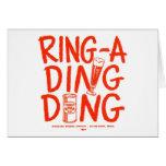 Kitsch Vintage Ring-a-Ding Ding Beer Time Ad Card