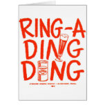 Kitsch Vintage Ring-a-Ding Ding Beer Time Ad Card