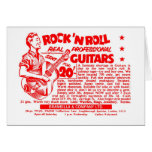 "Kitsch Vintage Rock N' Roll 'Guitars, 20 Quid!"" Card"