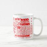 "Kitsch Vintage Rock N' Roll 'Guitars, 20 Quid!"" Coffee Mug"