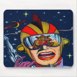 Kitsch Vintage Sci-Fi Space Ranger Shooter Mouse Pads