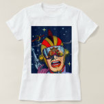 Kitsch Vintage Sci-Fi Space Ranger Shooter T-Shirt