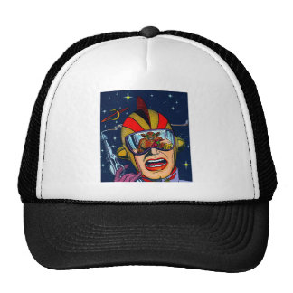 Kitsch Vintage Sci-Fi Space Ranger Shooter Trucker Hat