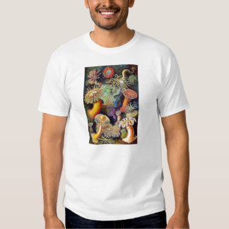 Kitsch Vintage Scientific Illustration Anemones T-shirt