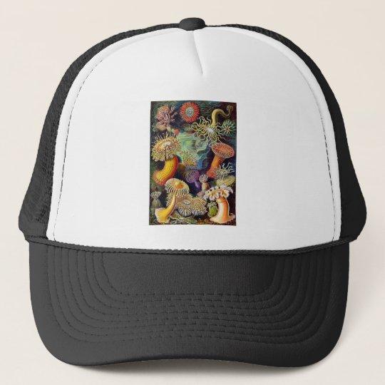 Kitsch Vintage Scientific Illustration Anemones Trucker Hat