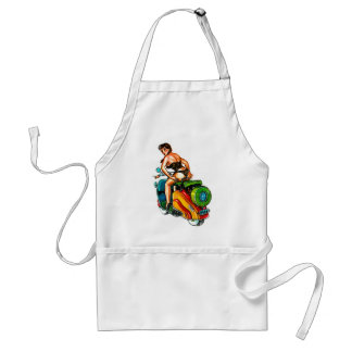 Kitsch Vintage Scooter Pin-Up Girl Apron