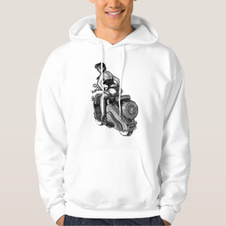 Kitsch Vintage Scooter Pin-Up Girl Hoodie