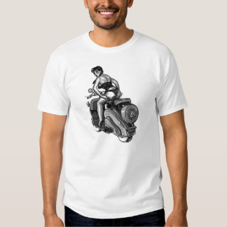 Kitsch Vintage Scooter Pin-Up Girl Tshirts