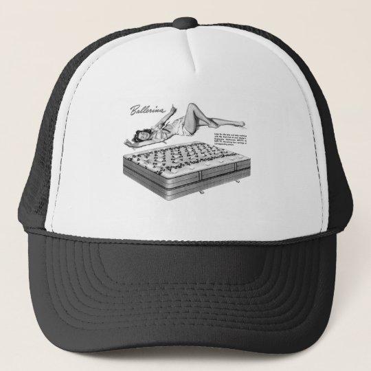 Kitsch Vintage 'Sleeping Ballarina' Pin-Up Girl Trucker Hat