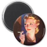 Kitsch Vintage Smoking Cigarette Pin-Up Girl Magnets