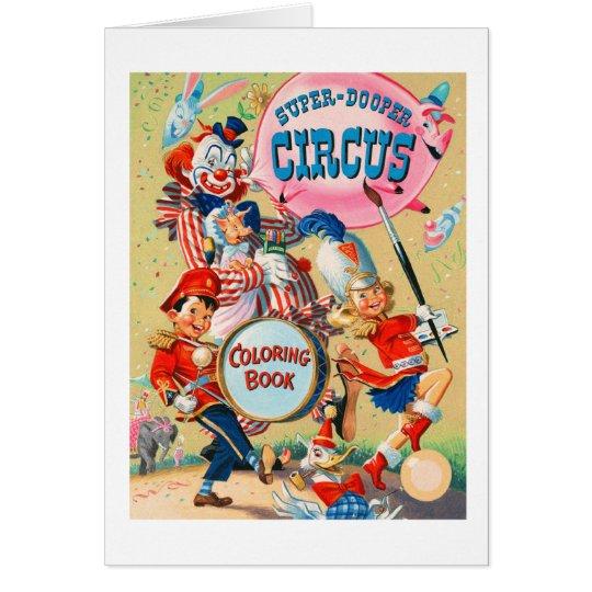 Kitsch Vintage Super Duper Coloring Book Card
