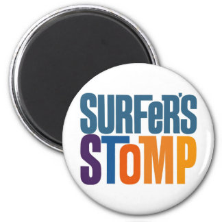Kitsch Vintage Surf Rock 'Surfers Stomp' Refrigerator Magnets