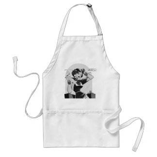 Kitsch Vintage This Lady is Trouble Comic Adult Apron