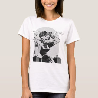 Kitsch Vintage This Lady is Trouble Comic T-Shirt