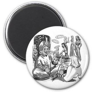 Kitsch Vintage Tobacco Hookah Bagdad Harem Magnet