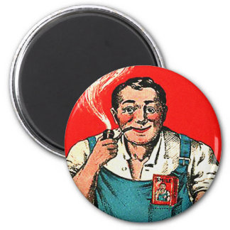 Kitsch Vintage Tobbaco Smoking 'Smile' Brand 2 Inch Round Magnet