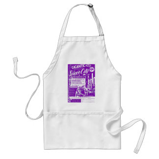 Kitsch Vintage Toy Gigantic Space City Aprons