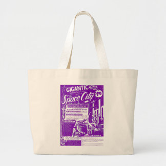 Kitsch Vintage Toy Gigantic Space City Tote Bags