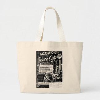 Kitsch Vintage Toy Gigantic Space City Canvas Bag