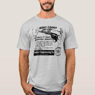 Kitsch Vintage Toy Pistol Ad Smoking Gun T-Shirt